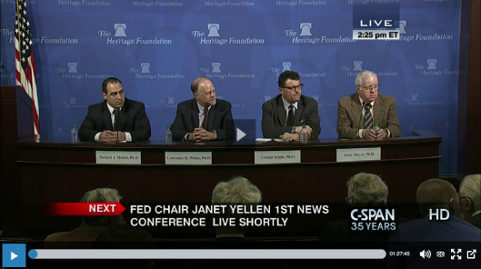 2014 - Heritage Foundation (Federal Reserve and Monetary Policy)