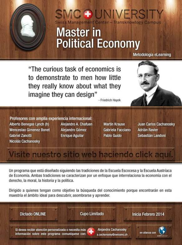 Flyer - Master in Political Economy