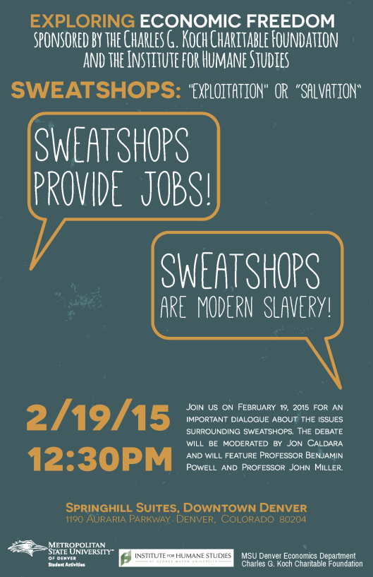 Flyer - Sweatshop Debate